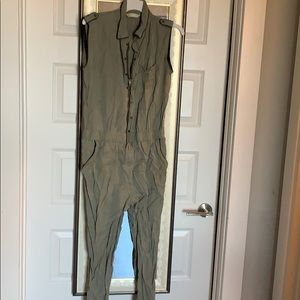 Army Green ZARA jumpsuit